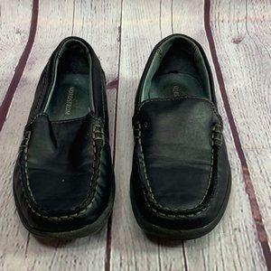 Nordstrom Black Solid Slip On Boys Loafers SZ 11M